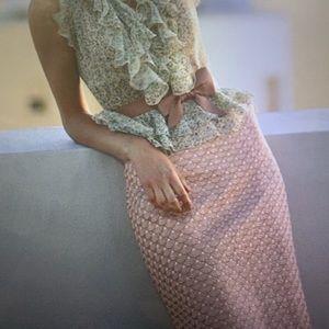 Leifsdottir Pink Scallop Skirt Anthropologie
